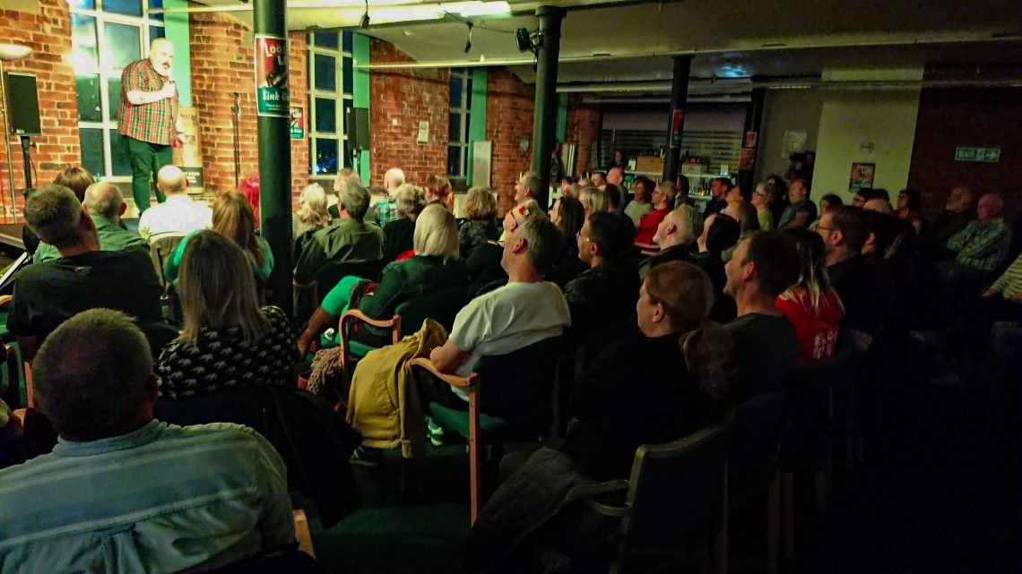 comedy night at the Hat Works