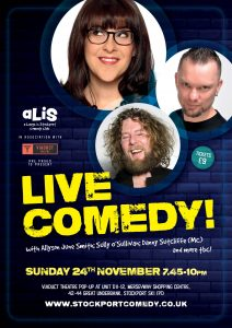 A Laugh In Stockport, Sunday 24th November at Viaduct Theatre.